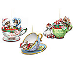 O' Christmas Tea! Charming Tails Teacup Ornament Collection