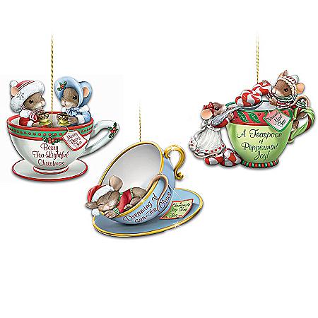 O' Christmas Tea! Charming Tails Teacup Ornament Collection