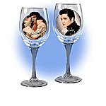 Elvis Decor Cheers To A Legend Wine Glassware Collection