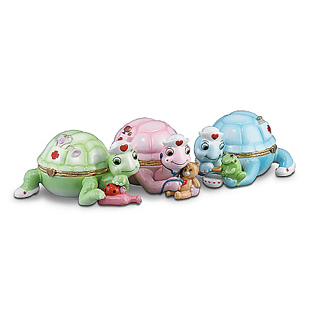 Gifts for Nurses Tender Loving Care Nurse-Themed Turtle Music Box Collection