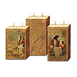 Footprints Of Faith Religious Inspirational Candleholder Collection