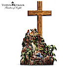 Thomas Kinkade Hand-Carved Olive Wood Cross Sculpture Collection