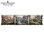 Thomas Kinkade Panoramic Cottage Art Pillow Collection