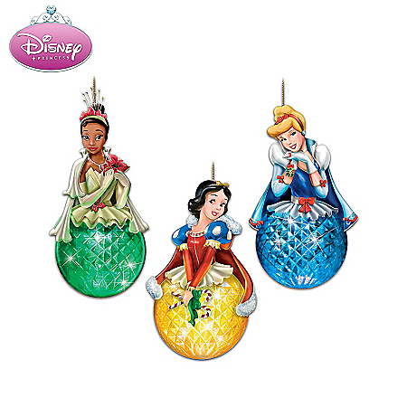 Disney Princess Sparkling Dreams Illuminated Ornament Collection