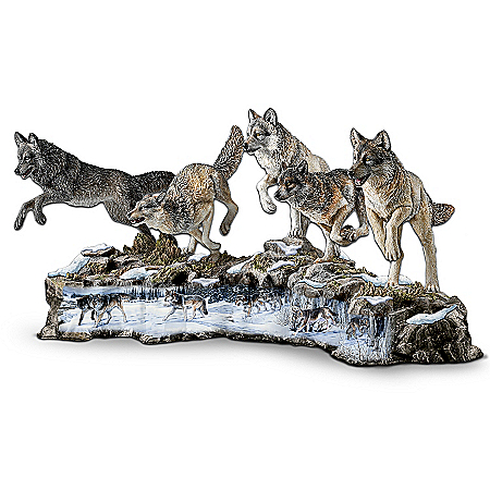 Wolf Decor Prophets Of The Pack Wolf Figurine Collection