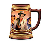 Cheers To A Legend: John Wayne Porcelain Stein Collection
