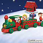 A Peanuts Christmas Wooden Holiday Train Collection