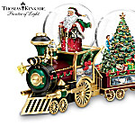 Thomas Kinkade Wonderland Express Miniature Snowglobe Train Collection