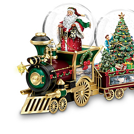 Musical Snow Globes Thomas Kinkade Wonderland Express Miniature Snowglobe Train Collection