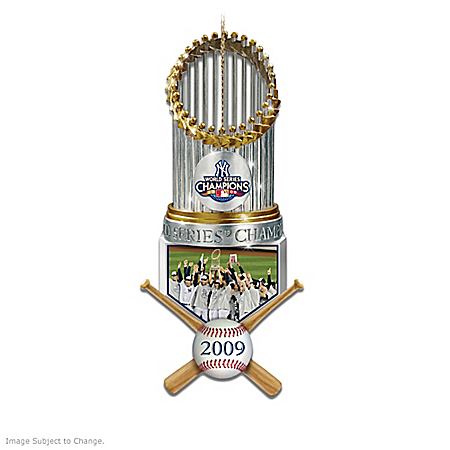 The New York Yankees World Series Champions Trophy Ornament Collection