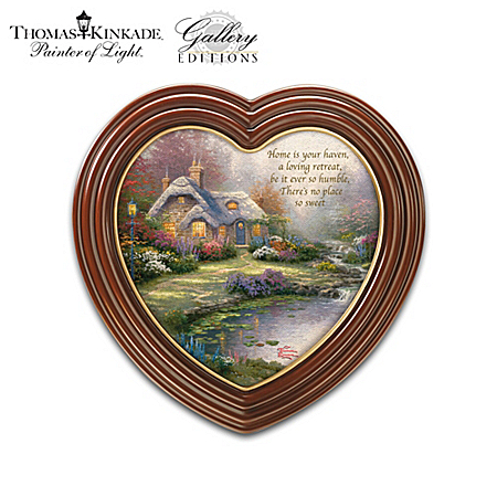 Thomas Kinkade - Home Is Where The Heart Is - Framed Canvas Print Wall Decor Collection