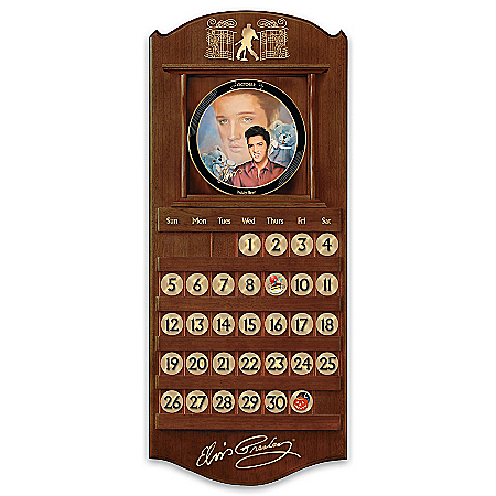 Elvis: Rockin' Through The Year Collector Plate Perpetual Calendar Collection
