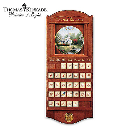 Thomas Kinkade Simpler Times Collector Plate Calendar Collection