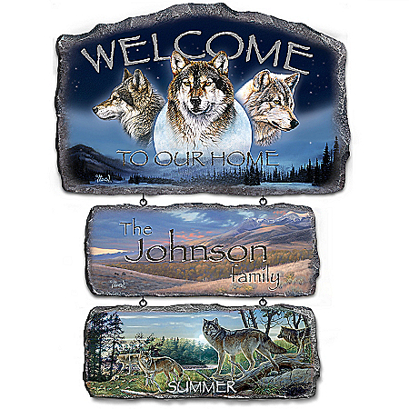 Sentinels Of The Seasons Personalized Welcome Sign Collection