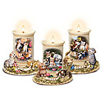 Live, Love, Purr: Porcelain Kitten Candleholder Collection