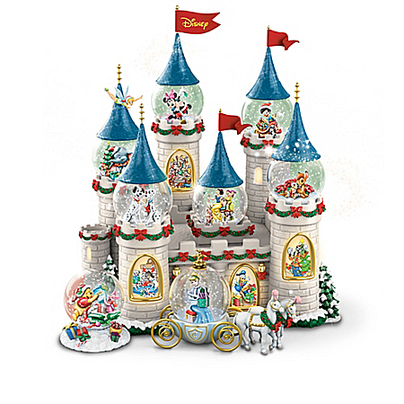Musical Snow Globes Disney's Christmas At The Castle Miniature Snowglobe Collection