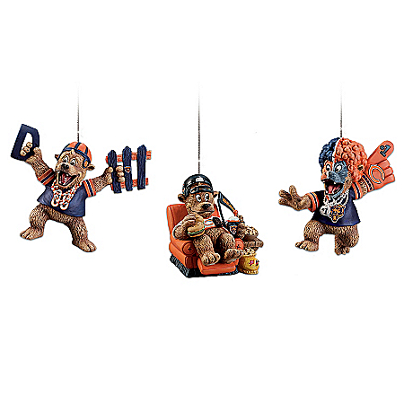 "The Chicago Bears ""Grreatest Fans"" Ornament Collection"