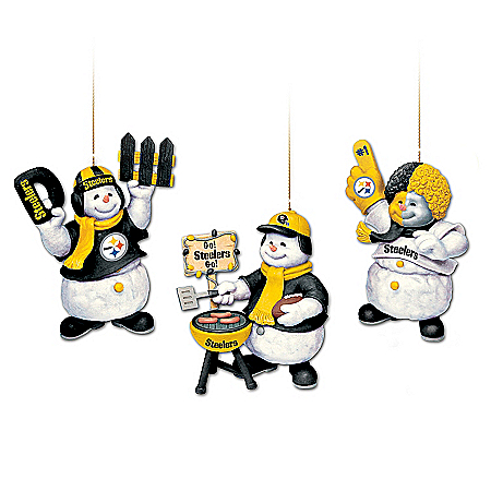 The Pittsburgh Steelers Coolest Fans Ornament Collection