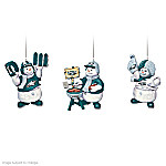 """The Philadelphia Eagles """"Coolest Fans"""" Ornament Collection"""