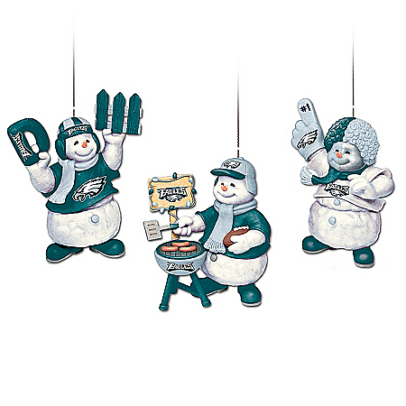 The Philadelphia Eagles Coolest Fans Ornament Collection