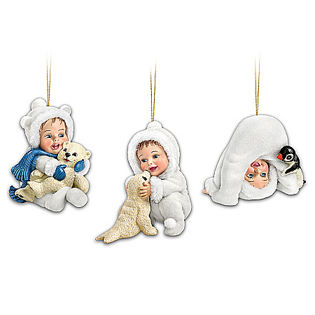 "The ""Cool Cuties"" Baby Ornament Collection: Sets Of Three"