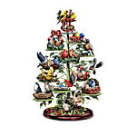 Holiday Tweets Tree Collection - Songbird Figurines With A Musical Tabletop Tree Display