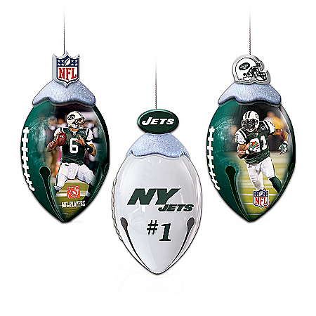 New York Jets FootBells Ornament Collection
