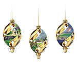 Irish Christmas Blessings Swirl Ornament Collection: Sets Of Three