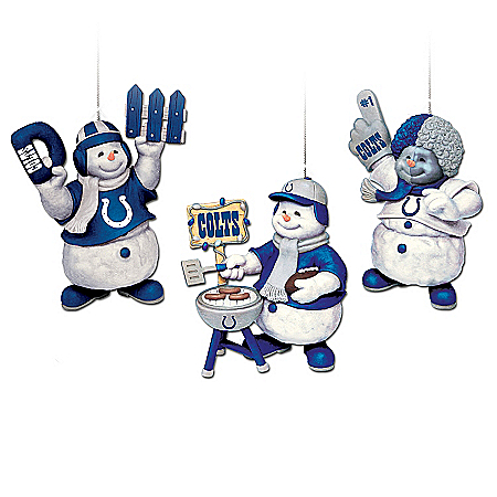 "The Indianapolis Colts ""Coolest Fans"" Ornament Collection"