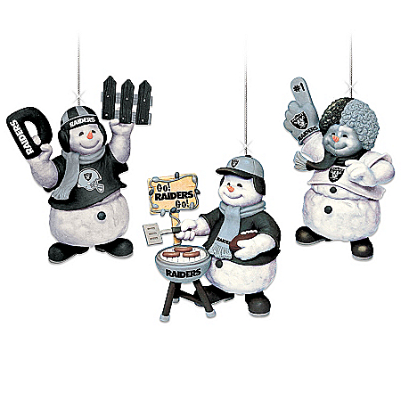 "The Oakland Raiders ""Coolest Fans"" Ornament Collection"