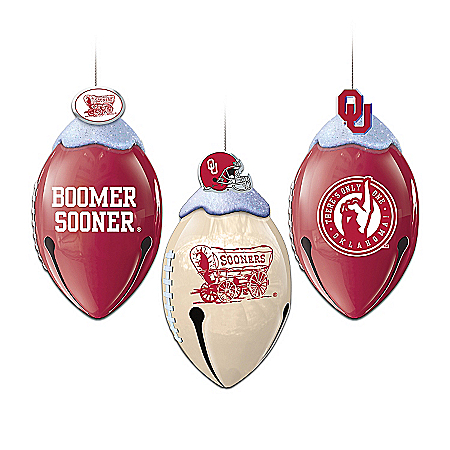 Oklahoma Sooners FootBells Ornament Collection