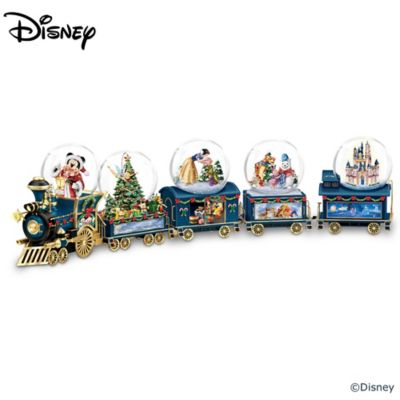 miniature snowglobe christmas train with disney characters - Disney Christmas Train