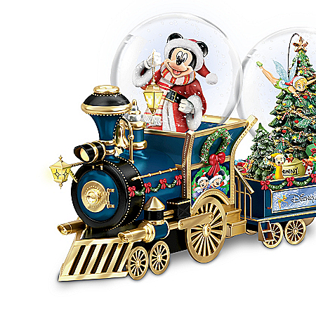 Musical Snow Globes Disney's Wonderland Express Miniature Snowglobe Train Collection