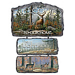Welcome To The Wilderness Personalized Welcome Sign Collection - Seasonal Welcome Signs