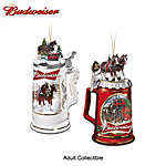 Budweiser Clydesdales Beer Stein Ornament Collection