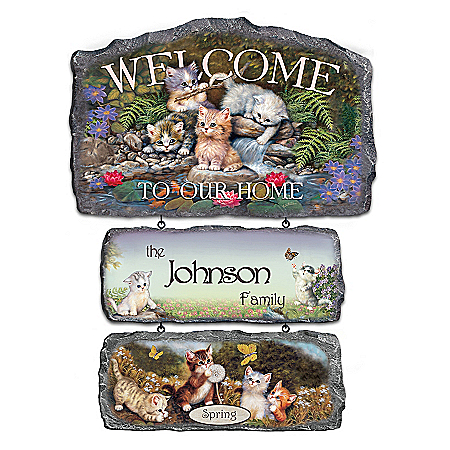 Personalized Welcome Sign Collection: Cozy Companions