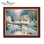 Thomas Kinkade Wooden Framed Canvas Print Wall Decor Collection
