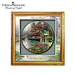Thomas Kinkade Gardens Of Tranquility Framed Shadowbox Plate Collection
