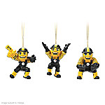 Pittsburgh Steelers Steely McBeam Christmas Ornament Collection