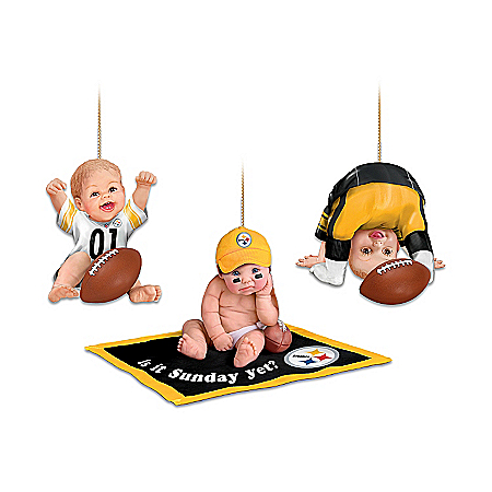 NFL Pittsburgh Steelers Baby Ornament Collection: Born To Be A Steelers Fan