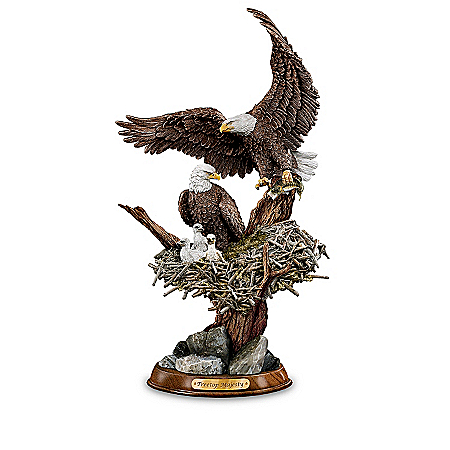 """Eagle Cam""-Inspired American Bald Eagle Sculptures"