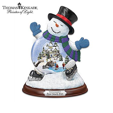 Thomas Kinkade Making Spirits Bright Miniature Snowglobe Collection