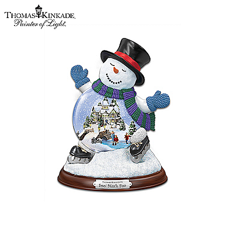 Musical Snow Globes Thomas Kinkade Making Spirits Bright Miniature Snowglobe Collection