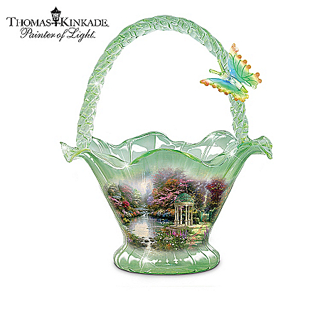 Thomas Kinkade Reflections Of Serenity Hand-Blown Glass Bowl Collection