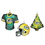 NFL Green Bay Packers Gridiron Glow Ornament Collection