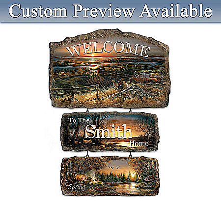 Personalized Welcome Sign Wall Decor: Seasons Of Splendor Collection