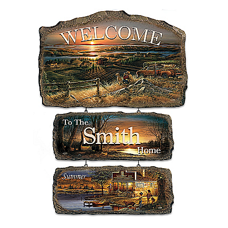 Personalized Welcome Sign: Seasons Of Splendor Collection