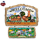 Charles Wysocki Hometown Seasonal Welcome Sign Collection
