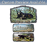 Black Bear Art Welcome Wall Decor Collection