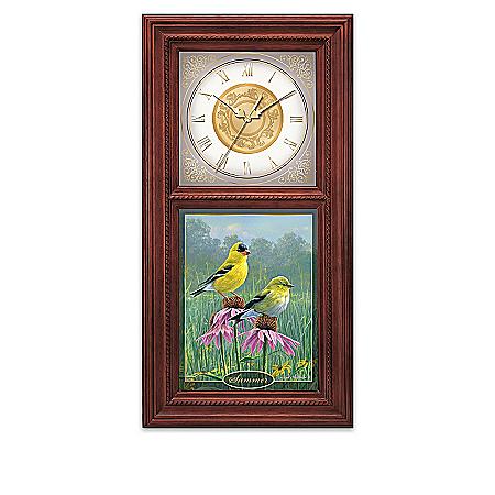Illuminating Wall Clock Collection: Songbirds Of The Seasons